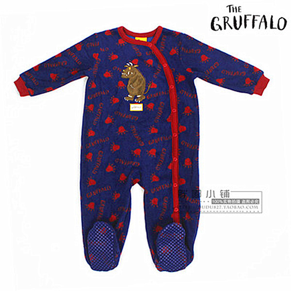 free shipping gruffalo TU Child fleece sleepware Baby OnePiece kids Romper boys jumpsuits Blanket Sleepers