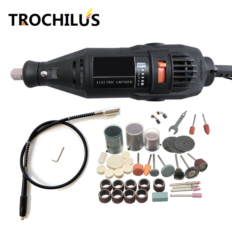 Trochlius 180W Electric Grinder speed change Grinding Tools Machine Tool Milling Machine Drilling Cutting Carving Polishing Kit fujiwara pneumatic grinding machine set dry grinder sanding tool polishing machine tire grinding machine tire repair tool