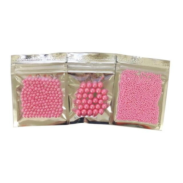 10g Piccolo 2 millimetri perline rosa Commestibile perla ZUCCHERO PALLA fondente
