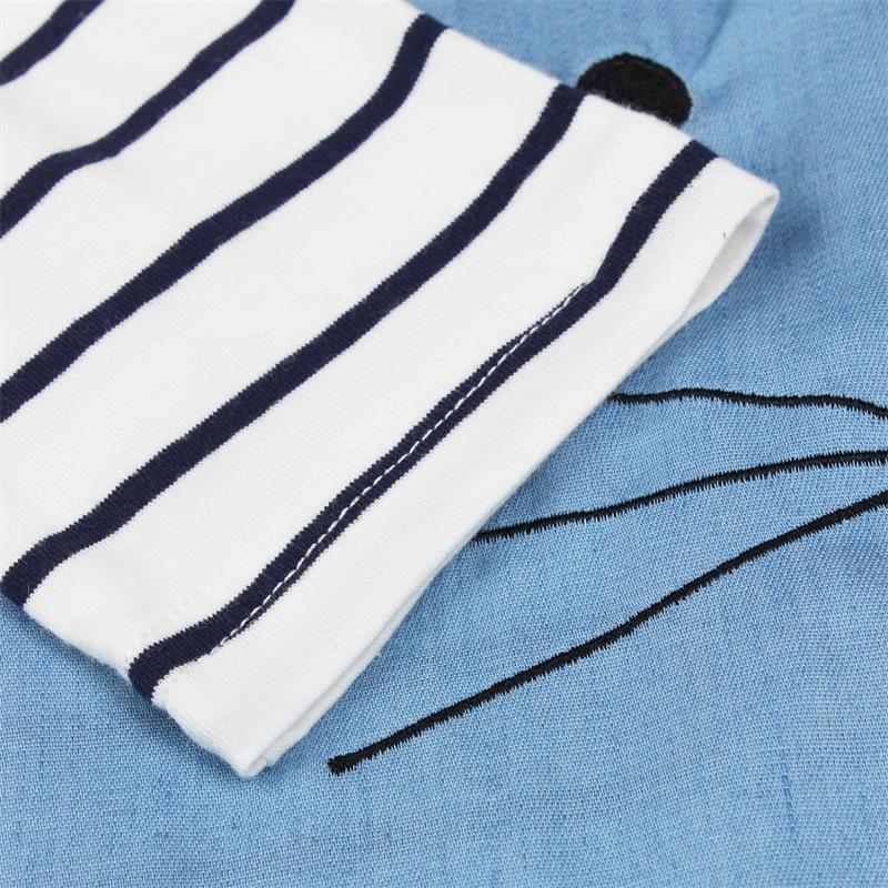 TANGUOANT Striped Patchwork Character Girl Dresses Long Sleeve Cute Mouse Children Clothing Kids Girls Dress Denim TANGUOANT Striped Patchwork Character Girl Dresses Long Sleeve Cute Mouse Children Clothing Kids Girls Dress Denim Kids Clothes