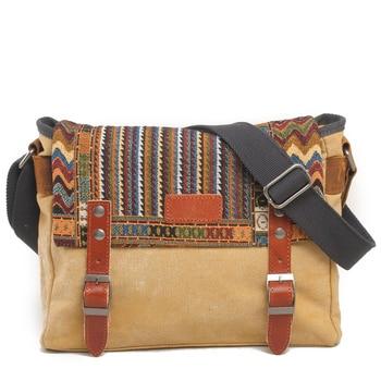 Canvas Messenger Bag Women Chinese Style Shoulder Bag Female Casual Bag Crossbody Bag 1