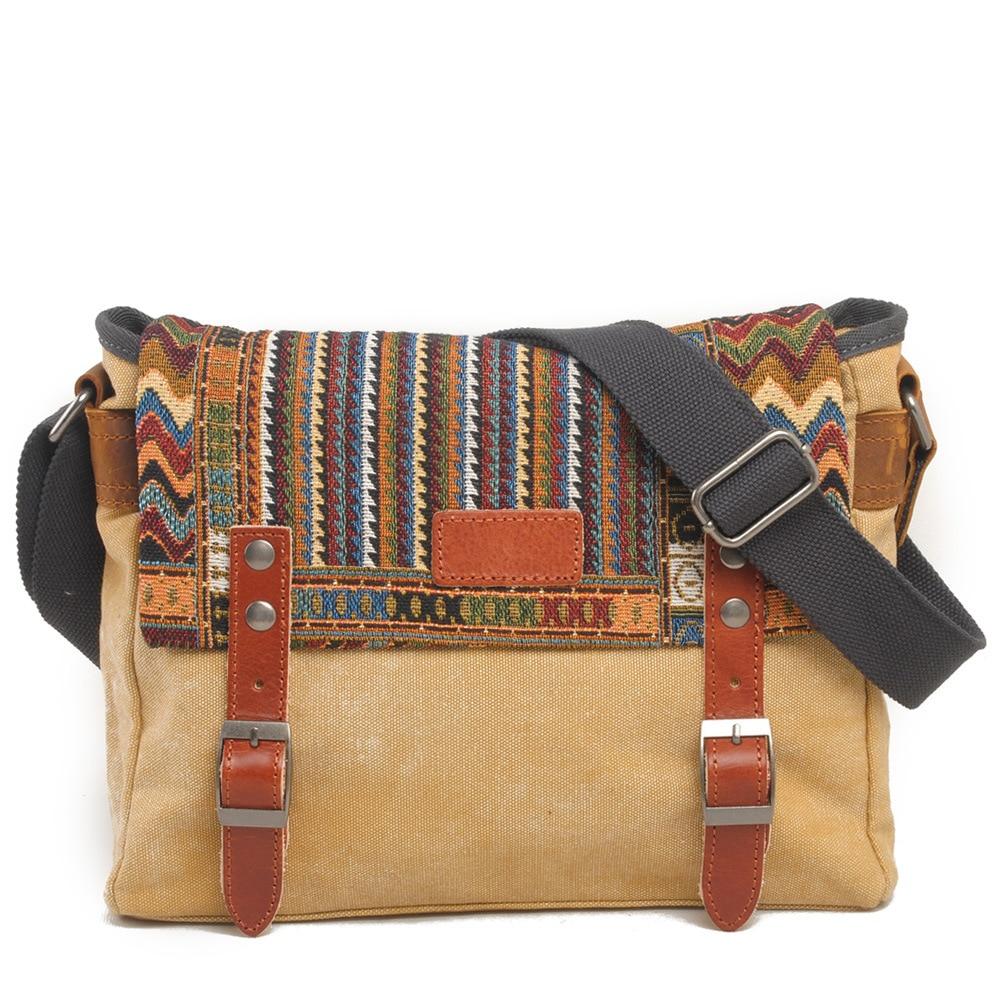 Lona étnica de la vendimia bolsa de mensajero de las mujeres del - Bolsos - foto 2
