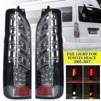 Автомобильная светодиодная пара задних тормозных фонарей поворотник для TOYOTA HIACE 2005 2017 заднего хода Drl свет аксессуары дым