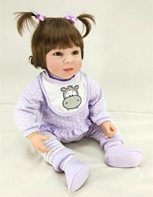 50cm Silicone Reborn Princess Baby Girl Doll Toys For Kid 20 inch Vinyl Lovely Toddler Doll