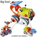 Novo Design do Tipo Montado Modelo DIY educacional-Parede E brinquedos do miúdo carro Ferramenta Chave de Fenda conjuntos de blocos de construção de Montagem Deformação
