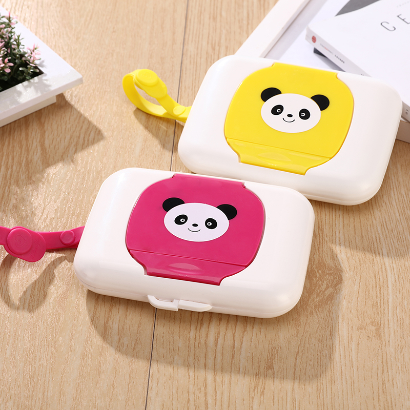 5pcs/lot Baby Travel Wipe Case Plastic Automatic Case Real Tissue Case Baby Wipes Press Pop-up Design Home Tissue Holder 001