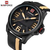 2017 Hot Watch Men Top Brand NAVIFORCE Sport Military Quartz Wristwatches Silicone Strap Waterproof Relogio Masculino