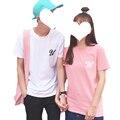2017 Verano Algodón de Los Hombres de Manga Corta Camiseta Femenina Floja Ocasional Más Tamaño Harajuku Impreso Parejas Visten Camisetas para Las Mujeres