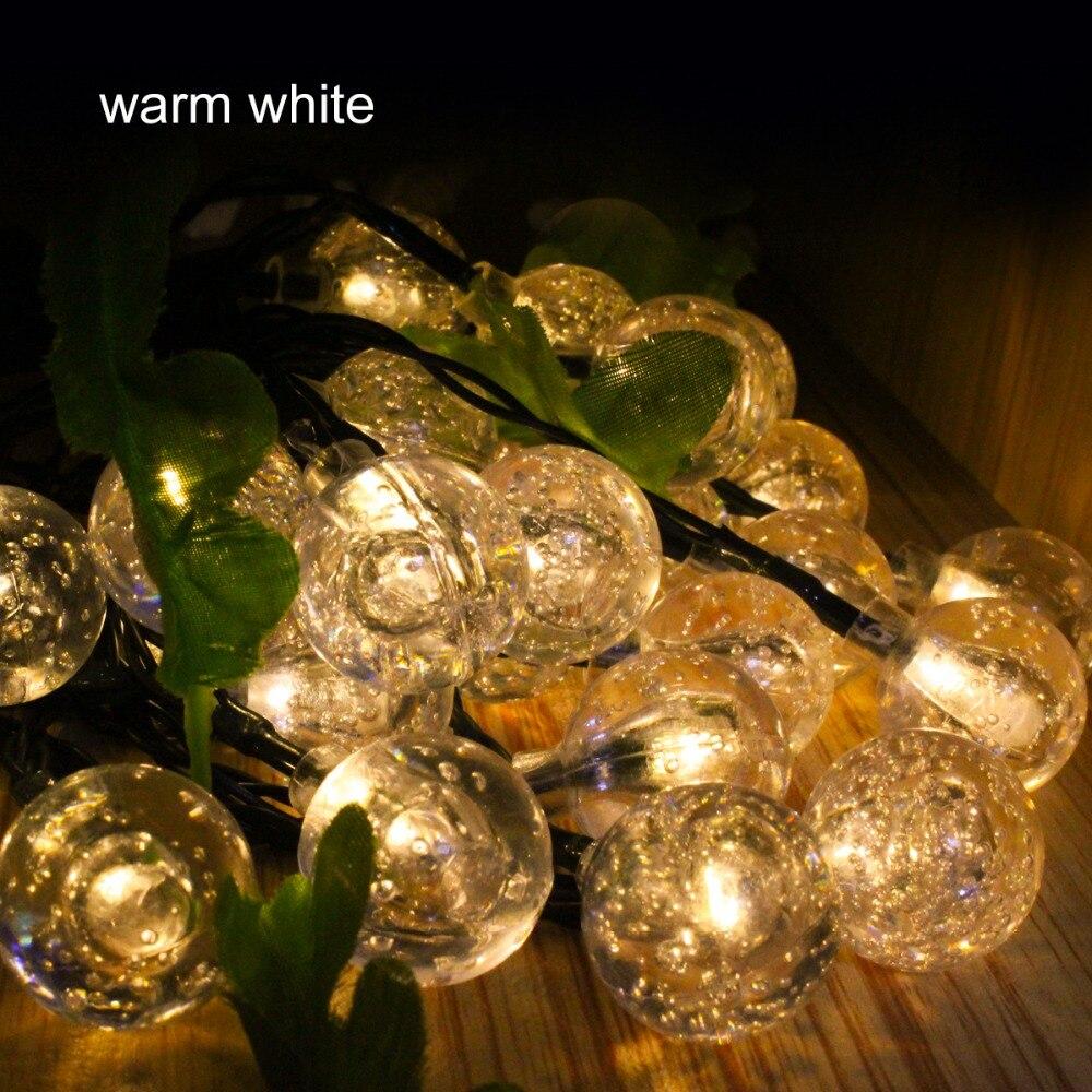 5m 30 Bola de Led bola de luz solar jardín Luces de Navidad led - Iluminación exterior - foto 6