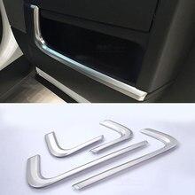 4Pcsรถอุปกรณ์ตกแต่งภายในประตูด้านข้างสำหรับLand Rover Range Rover Sport 2014 2015 2016 2017 2018 2019 ABS Chrome