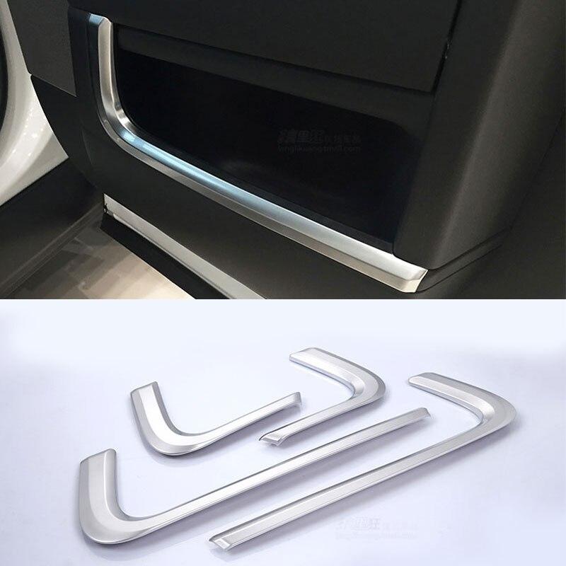 DIYUCAR Car ABS Center Console Decoration Strips Trim For RR Velar Accessories