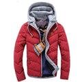 2015 Nuevo Llega El Otoño y Chaqueta De Invierno Para Hombre y Abrigos de Moda Los Hombres Abajo Abrigos Ropa de Algodón Acolchado de Los Hombres