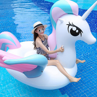Summer Swimming Pool Float Inflatable Flamingo Unicorn Seat Swimming Rings Watersports Pool Fun Kids Toys Pool Floats