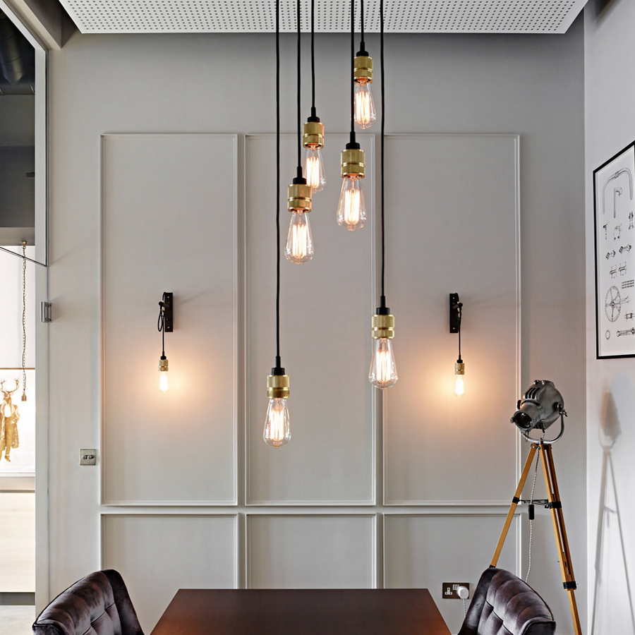 Ambient Light Vintage Industrial Hooked Pendant 6.0 Creative Lights  Restaurant Living Room Pendant Lamps Edison Bulb Included In Pendant Lights  From Lights ...