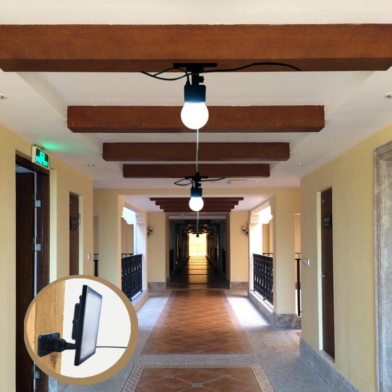 Solar Homehold Lights Indoor Lighting 2 Light Bulbs with Wire Solar Power System цены