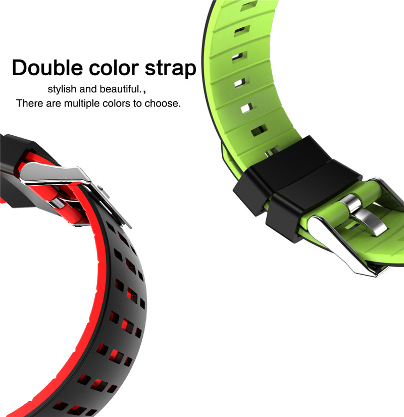 Smart watch fitness waterproof for Android IOS Color Strap