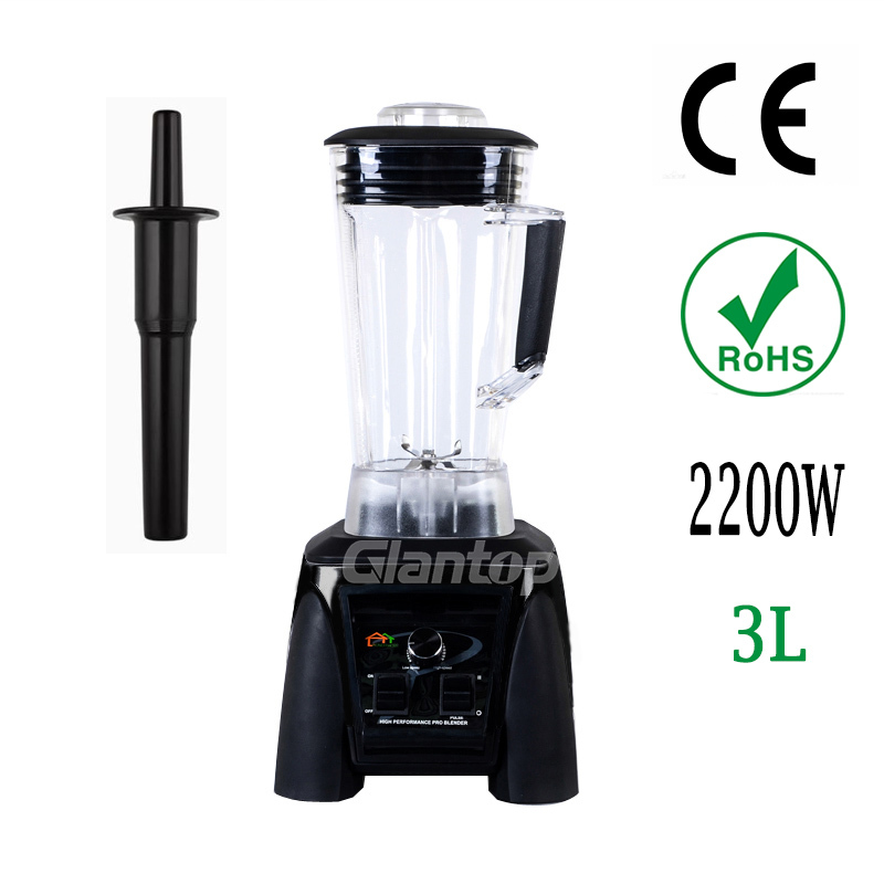 Glantop 3L High Performance Commercial Fruit Smoothie Blender Mixer Juicer Ice Crusher