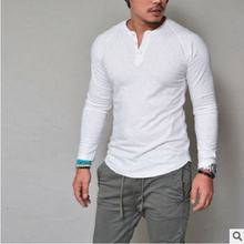 Hot 2018 New Spring Fashion O Neck Slim Fit Long Sleeve T Shirt Men Trend Casual