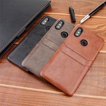 Card Slot Holder Wallet Leather Phone Case for Xiaomi Mi 8 Se 6x 5x A1 A2 Redmi 5 Plus Note 5 Pro Global Luxury Hard Back Cover