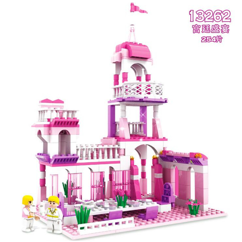 Model Building Model Building Kits Rational 254pcs Legoings Princess Series Diy Model Building Blocks Kit Toys Girl Birthday Christmas Gifts