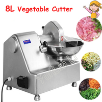 Commercial Meat Vegetable Cutter 8L Multi Functional Mixer 550W Meat Grinder Vegetable Crusher HLQ 8
