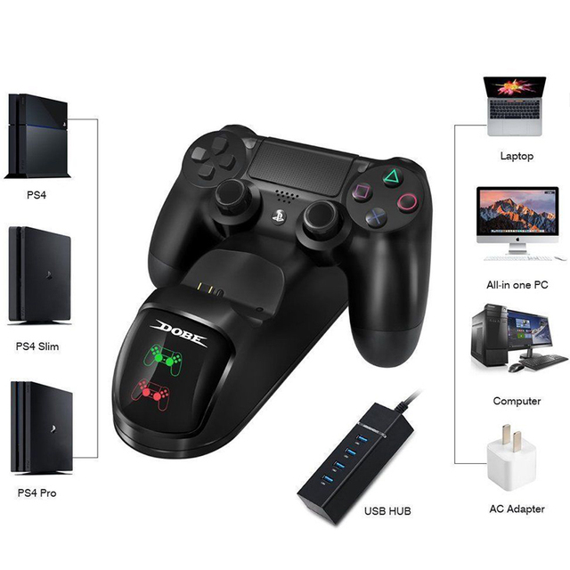 Controller Dual USB Charging Charger Docking Station Desktop Charger for PS4 / PS4 Slim / PS4 Pro Controller