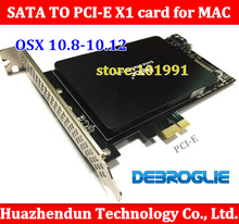 New High Speed DEBROGLIE DB-2016 SATA III to PCIe SSD Adapter card  for MAC PRO 08*12 OSX 0.8-10.12 Free shipping