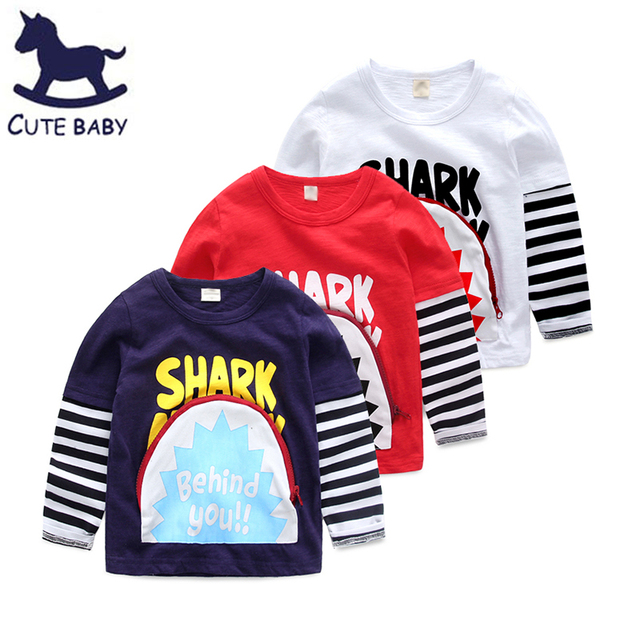 All for children's clothes and accessories 2016 Autumn Boys clothes Boys t-shirt for 2-4-6-8Years Bobo things Cartoon t shirt