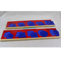 Baby Toy Montessori Metal Insets Set/10 for Early Childhood Education Preschool Training Learning Toys Geometrical Shapes