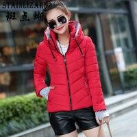 STAINLIZARD Short Women Winter Parka Casual Red Female Jacket Ladies Outwear Fashion Women Clothing Warm Winter