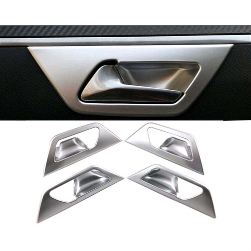 For Peugeot 3008 3008GT 2017 2018 Interior Inner Door Handle Bowl Cover Frame Trim ABS Chrome Stickers Car Styling Accessories