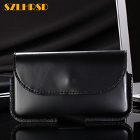 SZLHRSD Genuine Leather Waist Packs Fanny Pack Belt Bag for Galaxy S9 Phone Waist Bag Samsung Galaxy S9 Plus s7 s8 note 8 case