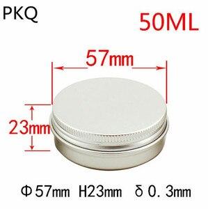 Image 5 - 50 pcs/lot pots en aluminium pots en aluminium crème en aluminium 30 ml récipient en aluminium 50 ml boîte en aluminium