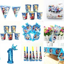Disney Frozen Princess Anna Elsa Kids Birthday Party Decoration Set Party Supplies happy Baby disney frozen party supplies кукла disney frozen elsa