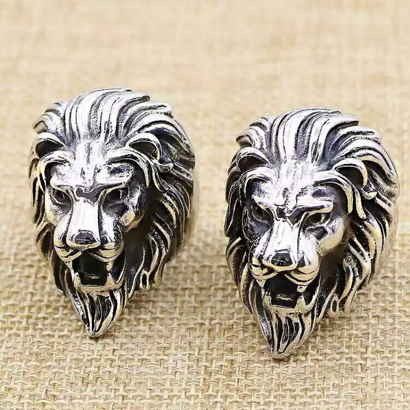 Classic Punk Lion head Animal Ring for men Fashion High Quality Stainless Steel Rock Punk Rings