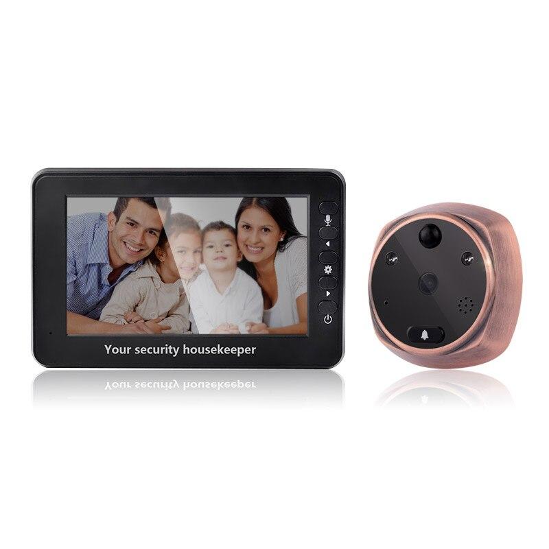 4.3 Digital Video Foto Door Viewer Peephole Interfone Automático Câmera HD Visão Nocturna do IR Detecção de Movimento de Segurança Campainha