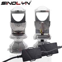 Sinolyn bi led obiektyw H4 9003 Mini projektor do reflektora LED soczewki Tuning 1.5 60W 5500K zestaw samochodowy światła samochodowe akcesoria DIY
