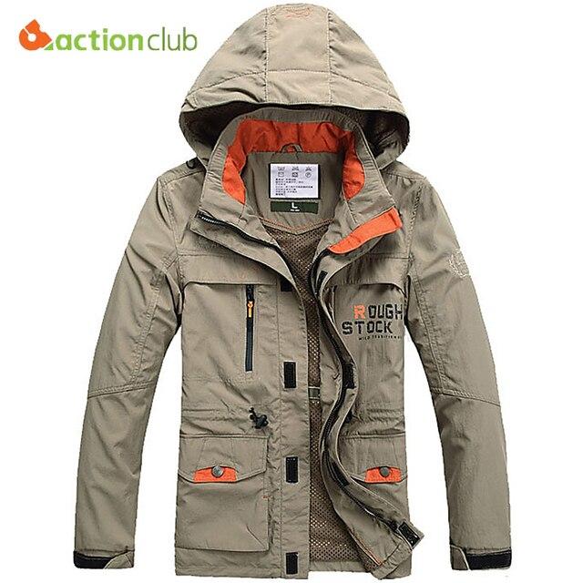 ACTIONCLUB 2017 Sping Autumn Men Jackets Windproof Coat Men Tourism Mountain men's Jackets Men's Fashion Coats Male Plus Size