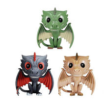 Nuovo Modello di Game Of Thrones Jon Snow Lannister Drogon Rhaegal Viserion Gigante Wight Vinyl Action Figure Giocattoli Da Collezione Regalo Bambola(China)