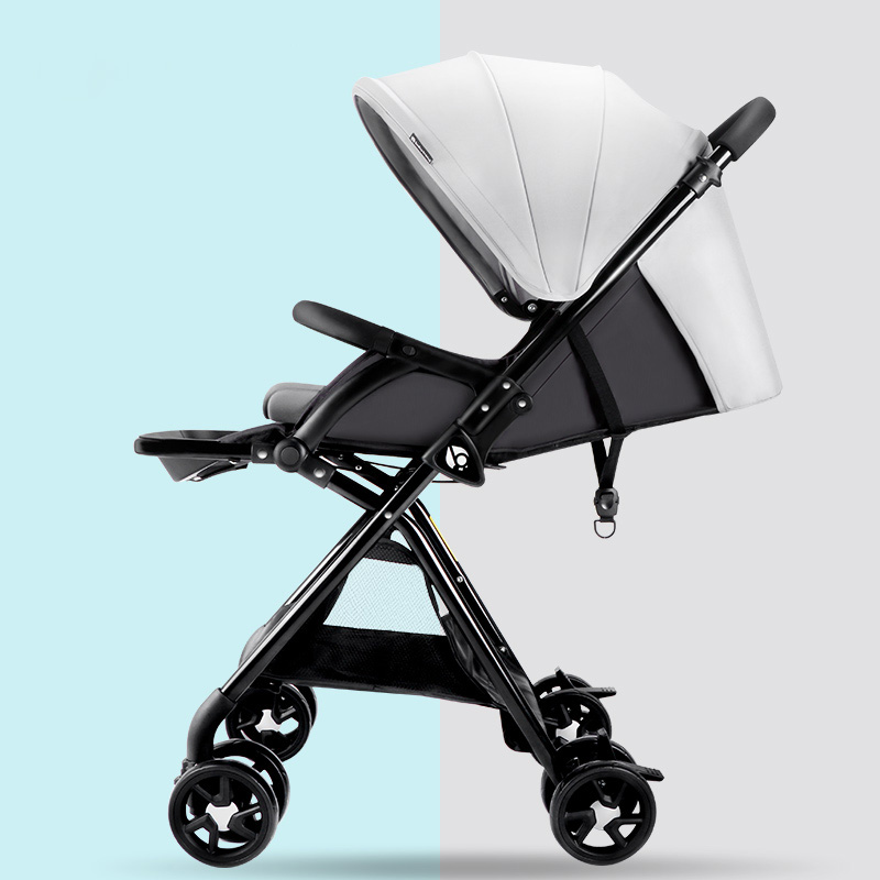 Baby trolley light folding baby child high landscape can sit flat canopy car