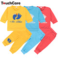 Newborn Cute Feet Printed Baby Boy Girl Clothing Set Infant Soft Cotton Long Sleeve Kids Clothes Solid Casual Toddler Clothes