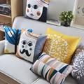 O envio gratuito de Almofada Do Assento de pelúcia estilo Escandinavo moderno e minimalista elegante Geométrica Almofadas Almofadas Para Sofás