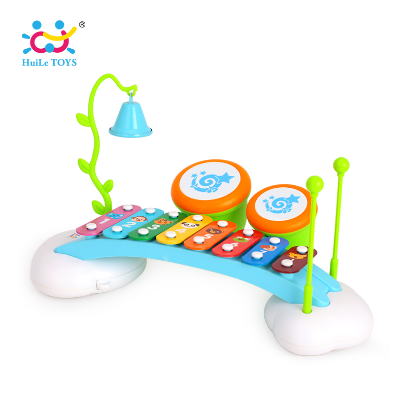 Xylophone Baby Musical Toy Instrument Piano with 8 Colored Metal Key with 2 Child-Safe Mallets for Kids Toddlers