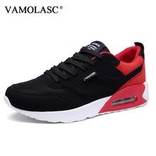 VAMOLASC New Men Sport Running Shoes Breathable PU Comfortable Outdoor Walking Shoes Cushioning Medium Cut Athletic Shoes