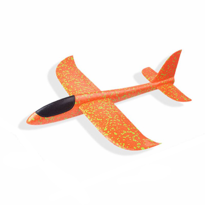 DIY детские игрушки ручной бросок Летающий планер самолеты пенопластовый самолет модель партии мешок наполнители Летающий планер самолет игрушки для детской игры - Цвет: Orange 36CM