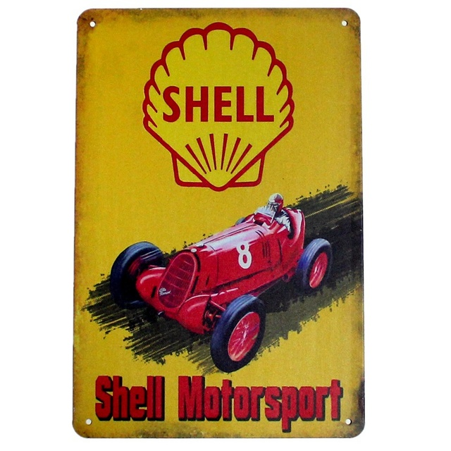 kelly66 motor sport oil metal posters bar home wall plaque