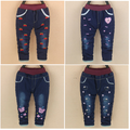 baby girls jeans winter 2016 new style baby warm pants with straberry print for 9 12 18 24 month babi B035