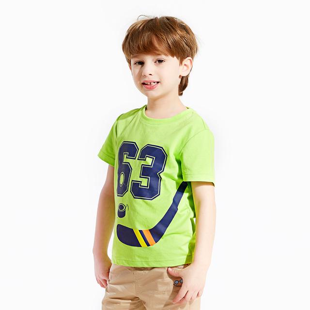 2016 Camisa De Futebol Menino Crianças Meninos Roupas Vestuário Para Desporto Criança Meninos De Algodão Verão Mangas Criança Crianças Tshirts 50H009