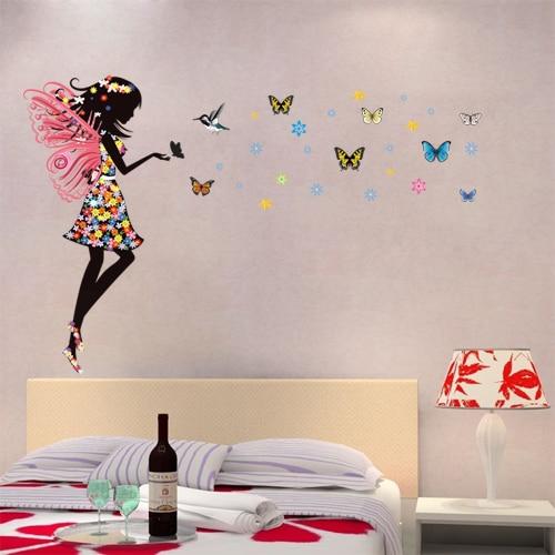 Awesome ... Fantasia Colorido Teste Padrão De Borboleta Adesivos De Parede Para O  Quarto Das Meninas Home Decor Art Decalques De Confiança Butterfly Wall  Stickers ... Part 16
