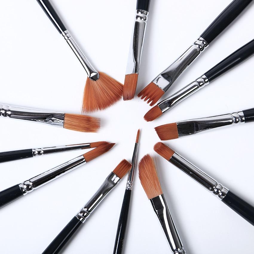 12 PCS/Set Nylon Hair Painting Teaching Tools For Kids Watercolor Paint Art Supplies